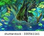 illustration  the tree pond.... | Shutterstock . vector #330561161