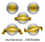 medallions   vector illustration   Shutterstock .eps vector #33056686