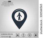 pointer web icon. vector design | Shutterstock .eps vector #330568565