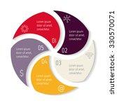 round spiral infographic... | Shutterstock .eps vector #330570071