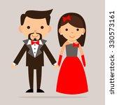 cartoon man and woman   Shutterstock .eps vector #330573161