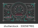 merry christmas outline style... | Shutterstock .eps vector #330587981