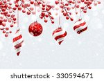 christmas decoration with snow... | Shutterstock .eps vector #330594671