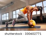 fit female doing intense core... | Shutterstock . vector #330602771