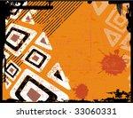 the ethnic raster retro grunge...   Shutterstock . vector #33060331