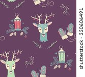 christmas seamless pattern | Shutterstock .eps vector #330606491