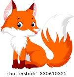 cute fox cartoon | Shutterstock . vector #330610325
