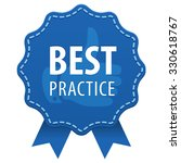 best practice blue label with a ... | Shutterstock .eps vector #330618767
