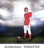 serious american football... | Shutterstock . vector #330623765