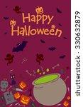 happy halloween holiday... | Shutterstock .eps vector #330632879