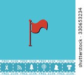 flag. location marker. red flat ...
