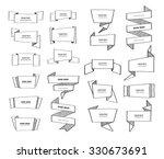 big vector origami speech... | Shutterstock .eps vector #330673691