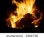 blazing campfire close up  with ... | Shutterstock . vector #3306738