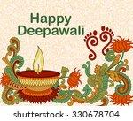 vector design of diwali... | Shutterstock .eps vector #330678704