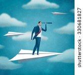 flying manager. business... | Shutterstock . vector #330681827