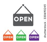 Open Icon. Open Sign. Colorful...