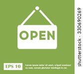 open icon. open sign. green... | Shutterstock .eps vector #330690269