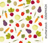 seamless vegetables  pattern.... | Shutterstock .eps vector #330694424