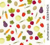 seamless vegetables  pattern.... | Shutterstock .eps vector #330694424