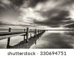 Old Wooden Jetty At The...