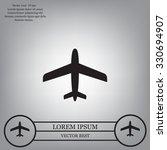 plane icon | Shutterstock .eps vector #330694907