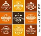 typographic thanksgiving design ... | Shutterstock . vector #330714701