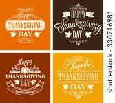 typographic thanksgiving design ... | Shutterstock . vector #330716981