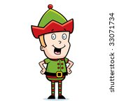 elf smiling | Shutterstock .eps vector #33071734