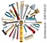 Vector Set Of Tools For Repair...