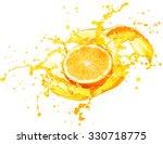 orange juice splashing with its ...   Shutterstock . vector #330718775
