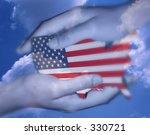 usa map protected by hands | Shutterstock . vector #330721