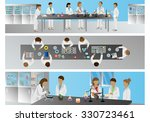 medical scientists  laboratory... | Shutterstock .eps vector #330723461