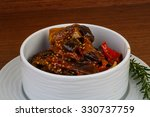 roasted vegetables with herbs...   Shutterstock . vector #330737759