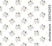 cute cartoon cats pattern. | Shutterstock .eps vector #330742355