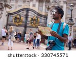 indian tourist outside... | Shutterstock . vector #330745571