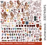 mega collection of vector... | Shutterstock .eps vector #330745691