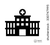 vector icon of hospital... | Shutterstock .eps vector #330747995