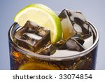refreshing glass of cola with... | Shutterstock . vector #33074854