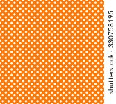 Orange   White Polka Dot...