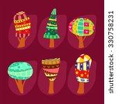 cartoon trees set.  | Shutterstock .eps vector #330758231