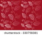 pattern with leafs  | Shutterstock .eps vector #330758381