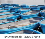 group of blue rowboat at river  ... | Shutterstock . vector #330767045