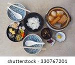 japanese healthy food set | Shutterstock . vector #330767201