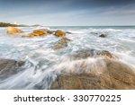 Water Flow At Seashore