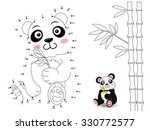 panda connect the dots and color | Shutterstock .eps vector #330772577
