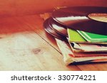 selective focus of records... | Shutterstock . vector #330774221