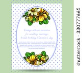 invitation with floral... | Shutterstock .eps vector #330777665