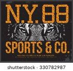 New York Tiger  T Shirt Graphic