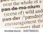 Small photo of Definition of word pandemonium in dictionary