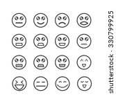 emotion icon set | Shutterstock .eps vector #330799925